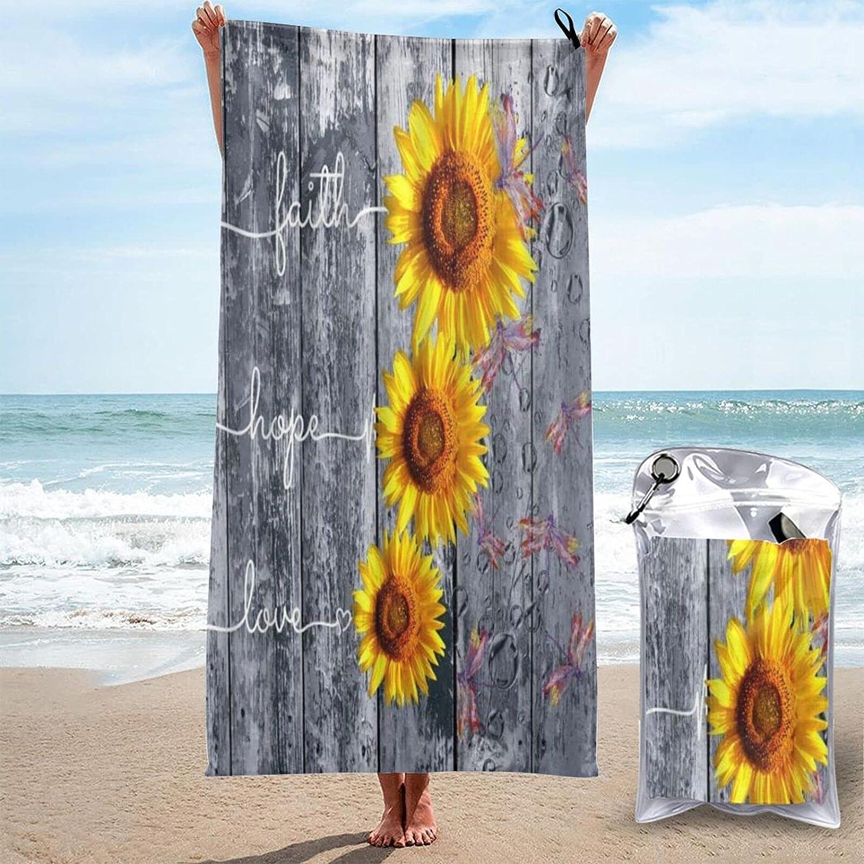 ADONINELP Ultra Absorbent Microfiber Fresno Mall Now free shipping Towel Sunflower Rustic Bath