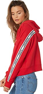 Levi's Women's Levi`S Logo Trim Hoodie Cotton Red