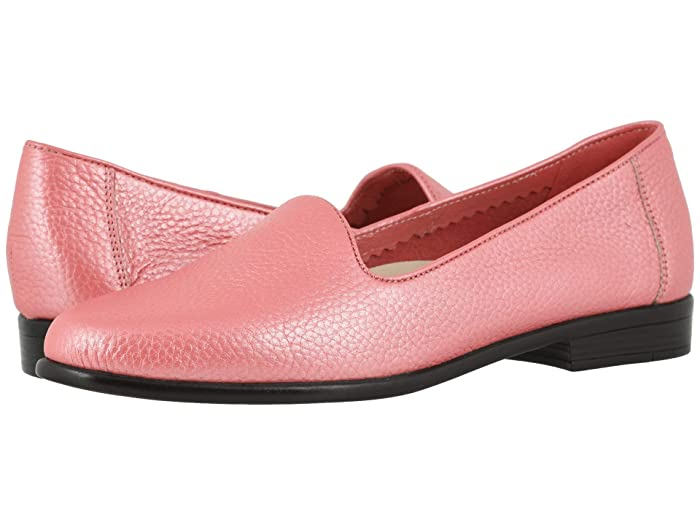 Trotters  Liz Tumbled (Coral) Womens Slip on  Shoes