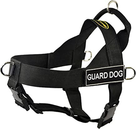 DT Universal No Pull Dog Harness, Guard Dog, Black, Medium, Fits Girth Size: 26-Inch to 32-Inch
