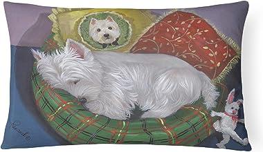 Caroline's Treasures PPP3282PW1216 Westie Precious Toto Canvas Fabric Decorative Pillow, 12H x16W, Multicolor