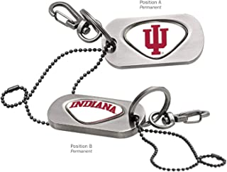 AdSpec NCAA Indiana Hoosiers Collegiate Dog Tag Key ChainCollegiate Dog Tag Key Chain, Silver, One Size