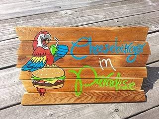 Adonis554Dan Cheeseburger in Paradise Inspring Wooden Printed on reclaimed wood Signs tiki bar Margaritaville