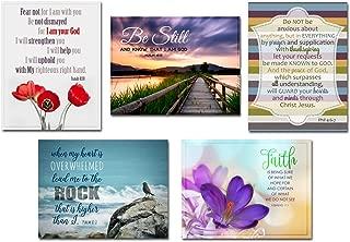 Silver Tulip Designs Bible Verse Magnets - scripture wall art - Scripture Prints - Christian Art Gifts - Set of 5