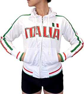 Swift Pigeon Apparel Italia Italian Pride Striped Flag Juniors Track Jacket