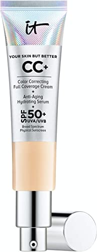 IT Cosmetics Your Skin But Better CC+ Cream, Light (W) - Color Correcting Cream, Full-Coverage Foundation, Anti-Aging...