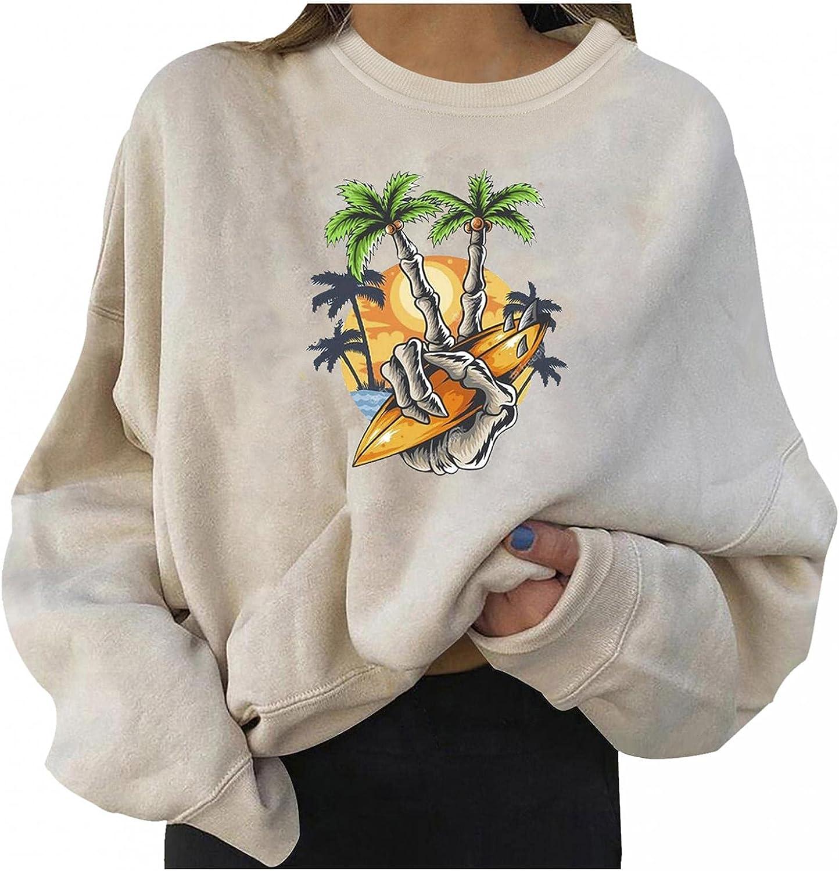 Aiouios Y2K Crewneck Sweatshirt Vintage for Women Halloween Pumpkin Ghost Long Sleeve Casual Plus Size Pullover Tops