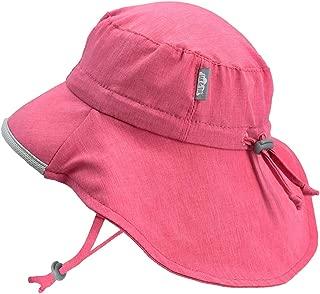 幼童宽边 50+ UPF 太阳帽带颈部翻盖中式绑带可调节