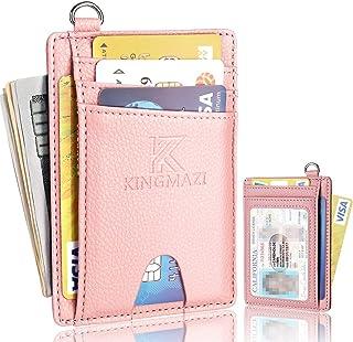 Slim Minimalist Front Pocket RFID Blocking Wallets, Credit Card Holder with D-Shackle for Men Women