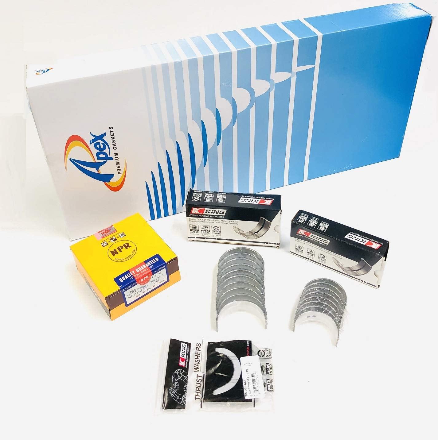 """.020/"""" Toyota Truck Celica 2.4//2.4L 22R//22RE NPR Pistons+Rings Kit//Set 1985-95"""