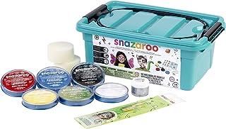 Snazaroo - Maleta, 6 colores y gel brillo con 3 pinceles, 2