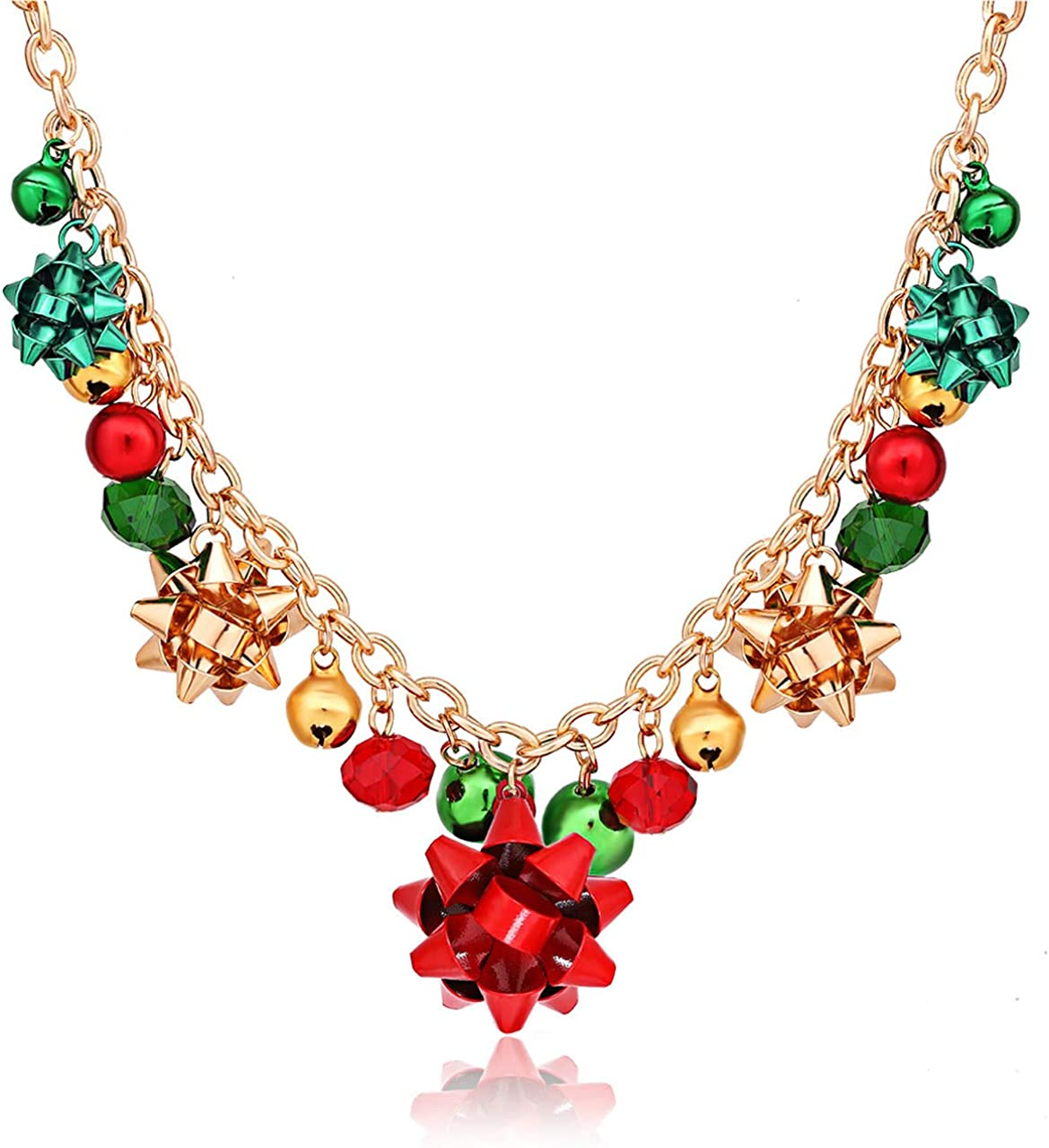 Safety and trust XOCARTIGE Christmas Necklace X-Mas Bell Necklaces Discount is also underway Present Jingle
