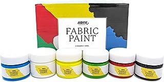 Colori per Tessuti e Vestiti Qualità Professionale Nazca - 6 Colori x 100ml - Set di Pittura Acrilica per Stoffa Permanent...