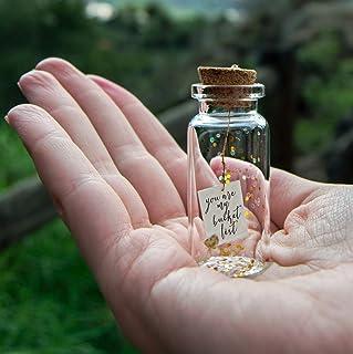 You are my bucket list. Te quiero. Mensaje en una botella. Miniaturas. Regalo personalizado. Divertida postal de amor.