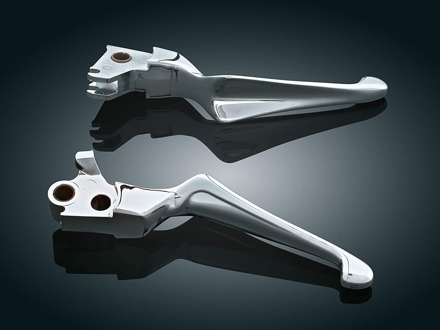 Kuryakyn 1036 Motorcycle Handlebar Accessory: Boss Blades Clutch and Brake Trigger Levers for 1999-2006 Harley-Davidson Motorcycles with Hydraulic Clutch, Chrome, 1 Pair