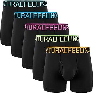 Mens Underwear Boxer Briefs Cotton Men's Boxer Briefs Underwear Men Pack Open Fly Pouch S M L XL XXL
