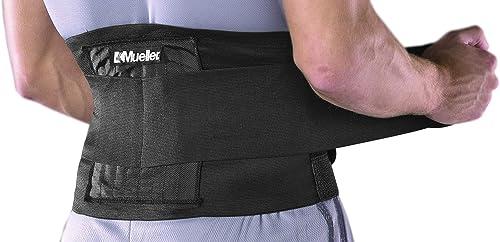 Mueller Adjustable Back Brace, Black OSFM