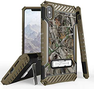 Beyond Cell Tri Shield Case Compatible with Apple iPhone Xs Max - Military Grade Shock Proof [MIL-STD 810G-516.6] Kickstand Case Cover for iPhone Xs Max - Camo Tree