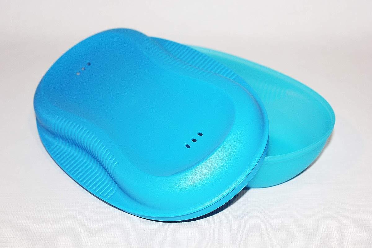 Tupperware Breakfast Egg Or Omelet Maker Microwave Cooker Azure Blue