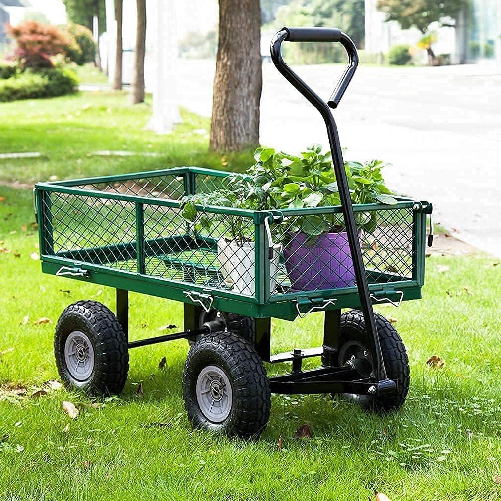 Garden Cart Indianapolis Mall Yard Dump Wagon Duty low-pricing Heavy Steel Utility