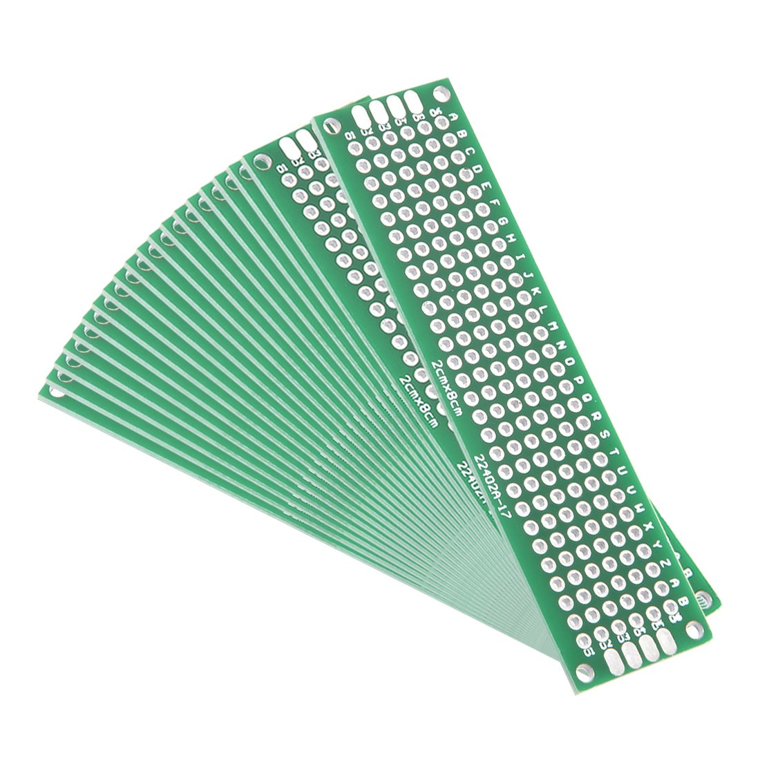 uxcell 20pcs Max 66% OFF 2x8cm Double Sided Universal Printed PCB Circ Board Direct store