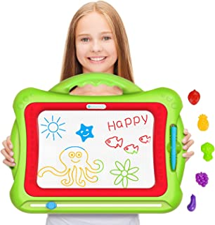 Geekper Magnetic Drawing Board for Kids [ Upgrade Version Green ] Erasable Colorful Magna Doodle Drawing Board Toys for Ki...