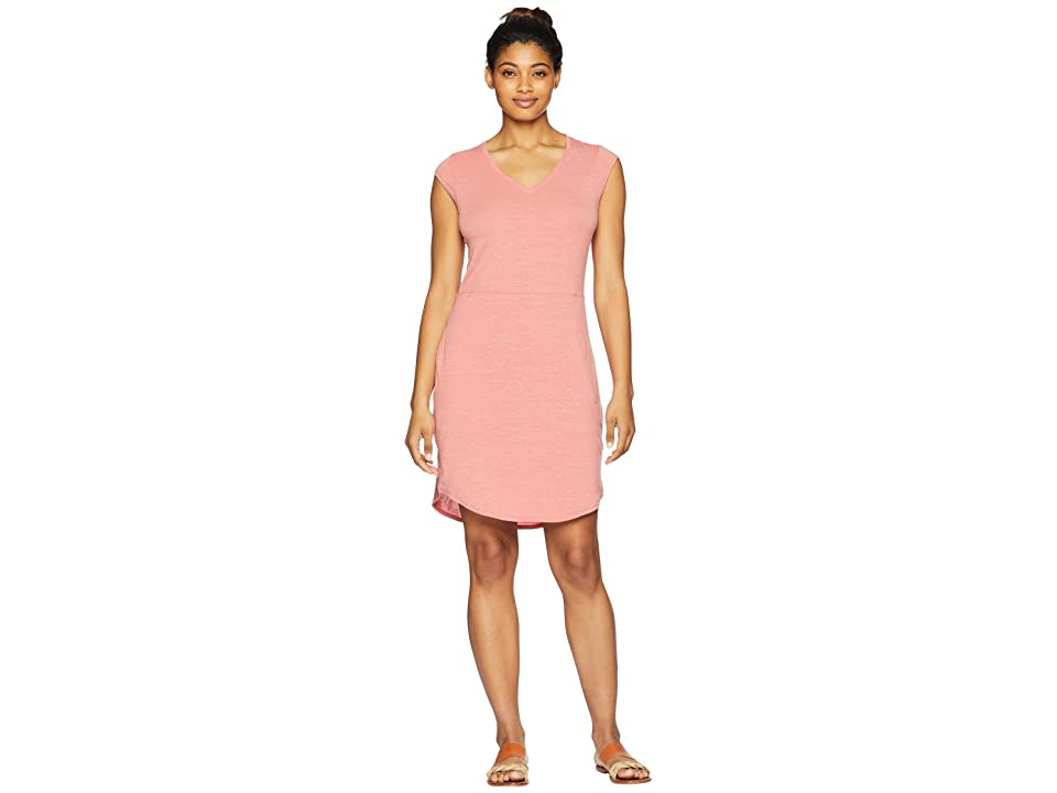 The North Face Short Sleeve EZ Tee Dress (Faded Rose Heather) Women