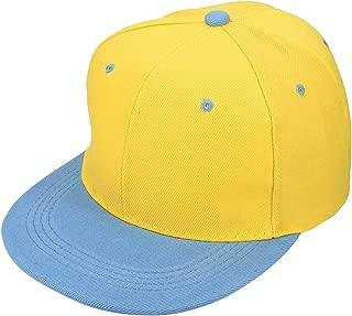 blue yellow snapback
