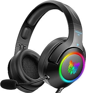 Audífonos Gamer Auriculares para juegos RGB para PC, PS5, PS4, Xbox one (adaptador no incluido), computadora portátil, auriculares para juegos con cancelación de ruido con micrófono y sonido envolvente, luz LED K9RGB