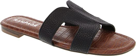 Rampage Women's Ophelia H Band Sandals with Faux Crocodile Footbed and Studs