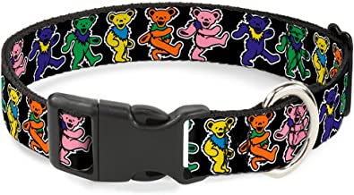 Buckle-Down Plastic Clip Collar - Dancing Bears Black/Multi Color - 1.5