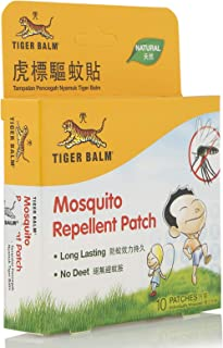 NATURAL Mosquito Repellent Patch - Tiger brand, Pack of 10