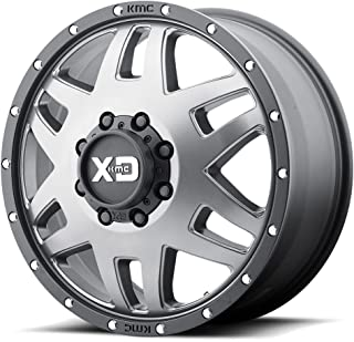 XD SERIES BY KMC WHEELS XD130 MACHETE DUALLY Wheel with GRAY and Chromium (hexavalent compounds) (20 x 7.5 inches /8 x 125 mm, -152 mm Offset)