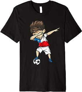 Dabbing Soccer Boy Chile Jersey - Chilean Football Premium T-Shirt