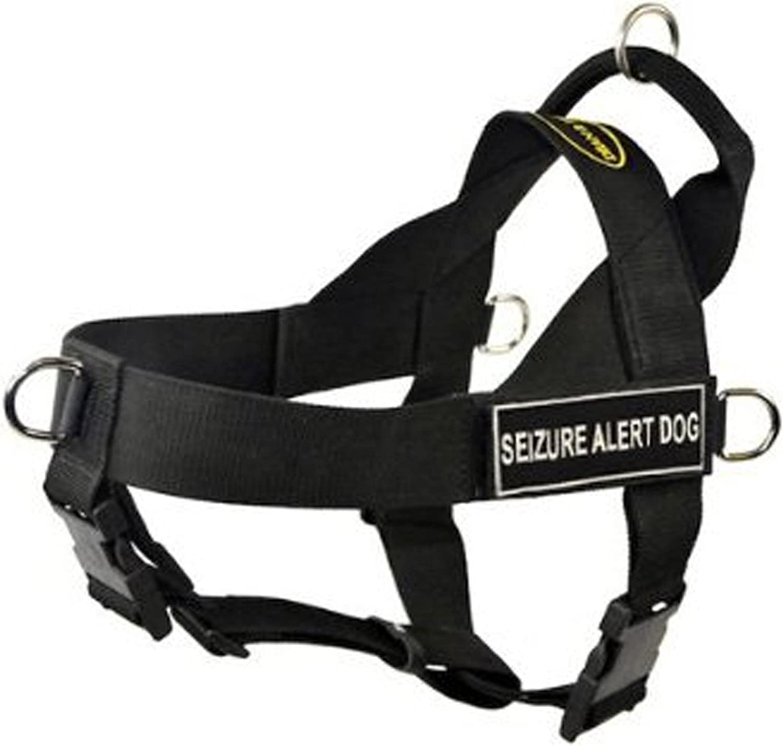 DT Universal No Pull Dog Harness, Seizure Alert Dog, Black, XLarge  Fits Girth Size  91cm to 119cm