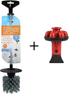 Brush. It Garbage Disposal Cleaning Brush & Disposal Genie II Combo I Kitchen Sink Drain Splash Guard I Dish Soap Reservoir I Strainer & Stopper I Food Scraper I Red I (10926A)
