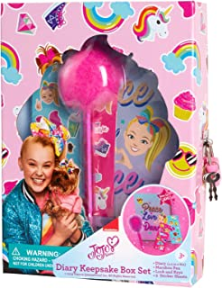 Nickelodeon Girls' Diary Journal Keepsake Box Set with Lock and Key, Stickers and Pen pink