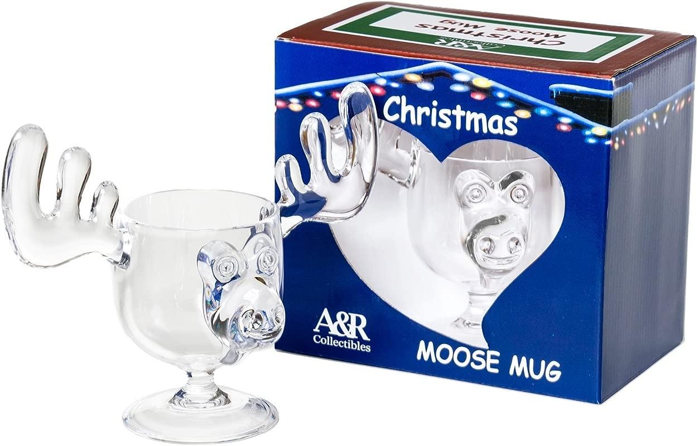 CHRISTMAS Eggnog Moose Mug SINGLE Mug Gift Boxed Safer Than Glass