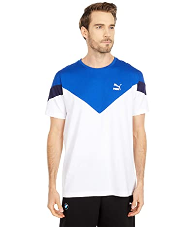 PUMA Iconic MCS Tee (PUMA White) Men