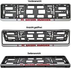 Plus Lesezeichen I Love M/ünchen Bayern M/ünchen Kennzeichenhalter Mia san mia 2er Set 3D-Optik Nummernschildtr/äger FCB