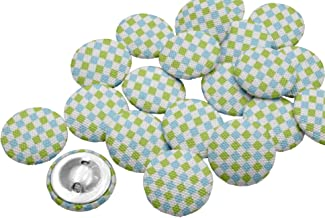 IBA Indianbeautifulart Decorative Buttons for Sewing Crafting Printed Fabric 1 Inch Buttons for Sewing Pack of 50