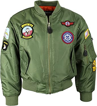 Kombat UK Unisex Kids Ma1 Flight Jacket
