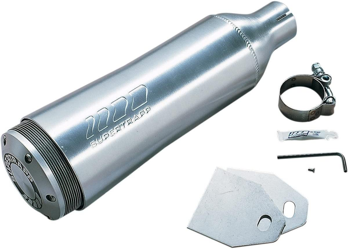 Supertrapp External Disc Slip-On Exhaust 4 Special price Brushed 1 year warranty Aluminum 1-3
