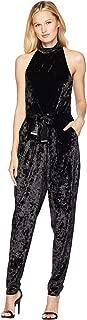 Michael Michael Kors Womens Velvet Belted Jumpsuit
