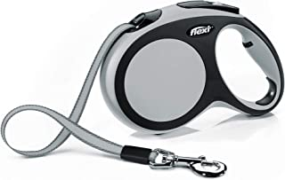 Flexi Comfort L Tape 8 m, Grey for Dogs Retractable Safety Leashes for Dogs Made in Germany