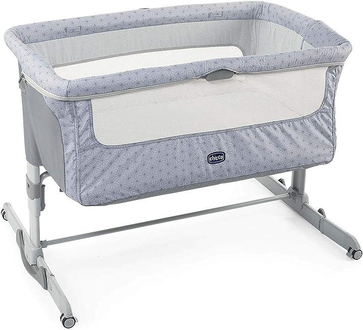 Culla neonato fianco letto per cosleeping lettino neonati con materasso chicco next2me dream 07079445490000
