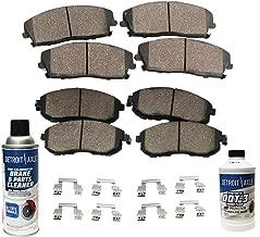 Detroit Axle - FRONT & REAR Ceramic Brake Pads w/Hardware, Brake Fluid & Cleaner Not for Brembo Brakes or Spec-V Models