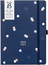 Busy B Mid-Year Day A Page Diary August 2020 - August 2021 - Navy A5 Daily Planner with Year Planner and Pen Holder
