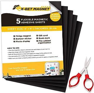 Feuille Magnétique,Aimant Film,Magnétique Film Auto-Adhésif Flexible 200 X 200