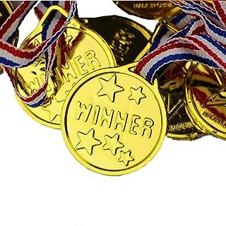 Fun Express Gold Tone Winner Award Medals (2-Pack of 12)